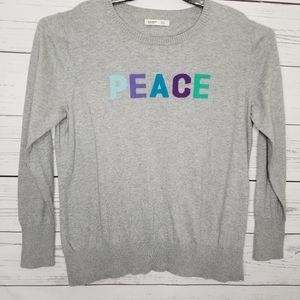 Old Navy | Peace Spellout Long Sleeve Sweater